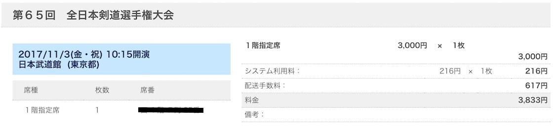 全日本剣道選手権大会のチケット代金が最も高くなる方法