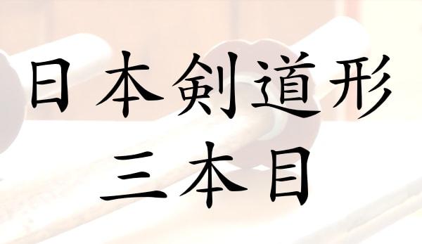 日本剣道形三本目の解説と動画、意味を知って昇段・実戦に活かすには?