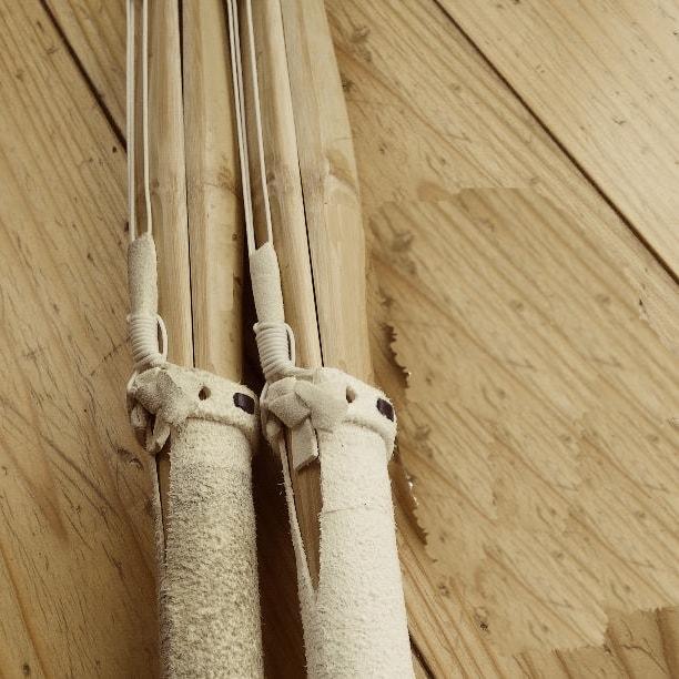 竹刀の分解、組み方の全まとめ。弦、柄革の付け方、中結い、小物の使い方